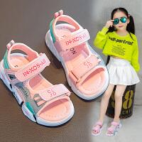 女童凉鞋夏季儿童沙滩鞋中大童小女孩凉鞋小童软底