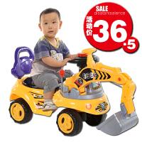 儿童玩具可坐可骑挖掘机宝宝大号音乐挖机工程学步车男孩挖土机