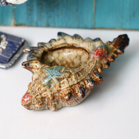 普润 陶瓷海螺 装饰摆件/家居软装饰品/烟灰