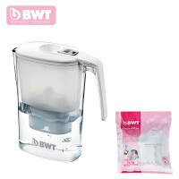 BWT倍世过滤水壶净水壶净水器 白色 蓝色 3.6升阻垢款 一壶二芯