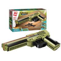 启蒙手枪7男孩拼装小颗粒KA47积木枪6男童拼插模型儿童吃鸡枪玩具