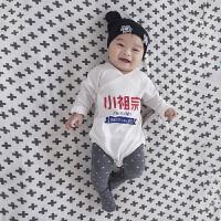 婴儿连体衣服宝宝冬季包屁衣0岁3月三角哈衣外出服6春装