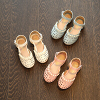夏季女童凉鞋公主鞋镂空包头宝宝鞋儿童沙滩鞋女童鞋