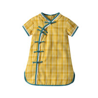 宝宝旗袍夏季薄款中国风儿童唐装女童连衣裙婴儿小裙子