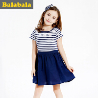 巴拉巴拉夏季女童连衣裙中大童学生裙童装儿童裙子淑女裙