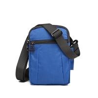 男女款运动斜跨包包 迷你竖款三层拉链单肩包腰包挂包