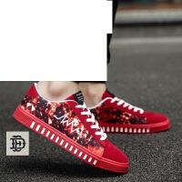 品牌男鞋子2017夏季新款帆布鞋韩版潮流低帮板鞋男士休闲透气布鞋大童学生百搭运动板鞋男