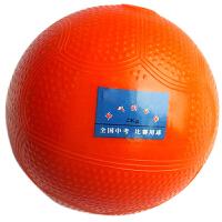 实心球 中考专业训练球2kg 全国中小学比赛投掷防滑2公斤充气球 橙色