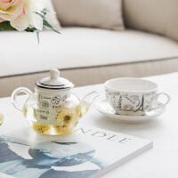 奇居良品 ins风茶暖壶泡茶壶加厚高硼硅玻璃陶瓷下午茶茶壶茶杯套装