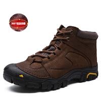 冬季高帮棉鞋男士户外运动登山鞋子加绒保暖雪地靴