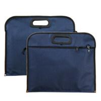 牛津手提公文包 资料收纳 A4单层单拉链+双层立体手提包 可印刷 单个