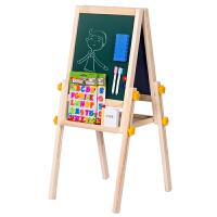 得力儿童宝宝画板双面磁性小黑板可升降支画架家用涂鸦写字板