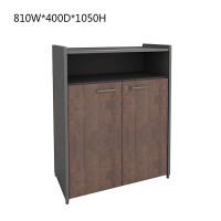 美格利生工业风木质办公文件柜带锁落地小柜子办公室家具隔断矮柜 B款 810W*400D*1050H 18mm