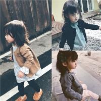 儿童秋装秋冬季新款精致立体花朵女童毛线外套宝宝针织开衫