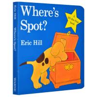 现货正版 小玻翻翻书系列 Where's Spot 小玻在哪里 英文原版 Eric Hill 英文版进口英语儿童纸板翻