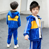 中大童装外套韩版潮衣小孩男童套装秋冬装儿童两件套