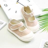 儿童帆布鞋宝宝一脚蹬鞋1-3岁2男童女童布鞋 潮韩版百搭