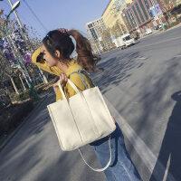 简约帆布包女单肩手提小文艺清新森系学生装书包购物袋百搭