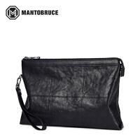 蒙特布鲁斯手包男士包包2017新款潮真皮手拿包大容量信封包手抓包M2171021