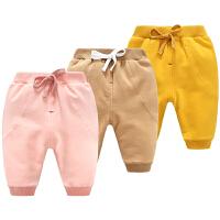 秋冬季婴儿棉裤子男宝宝加绒加厚保暖3个月外穿女打底裤