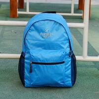 户外旅游轻薄可折叠皮肤包便携防水旅行双肩背包男女学生书包 色 刺绣