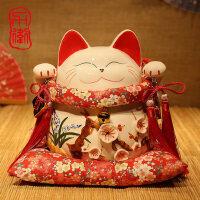 招财猫摆件 招财猫大号日本陶瓷招财猫储蓄罐 存钱罐开业创意礼品