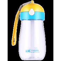 儿童水杯吸管杯 便携塑料防摔可爱卡通小学生幼儿园随手杯子s2h