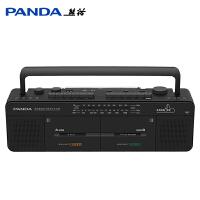 熊猫F539双卡收录机录音机复读机磁带机卡带机英语教学用播放机便携卡式磁带转录转mp3 U盘多功能