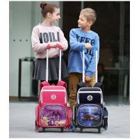 卡拉羊拉杆书包三轮男女儿童2-4-6年级学生书包六轮拉杆包CX8598