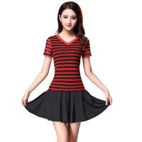 广场舞服装运动套装春夏新款短袖短裙休闲运动演出舞蹈服裙
