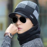 男士帽子韩版保暖针织帽 加绒毛线帽护耳帽男青年套头棉帽