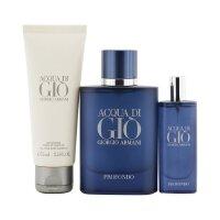 阿玛尼 Giorgio Armani 阿玛尼寄情男士邃蓝版香氛套装:香水喷雾 75ml/2.5oz + 香水喷雾 15m