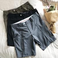 夏季港风男士西装短裤男色短裤休闲宽松五分短裤西裤潮