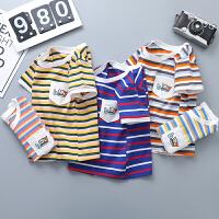 儿童条纹短袖春装儿童短袖t恤夏装童装新款T恤男童女童半袖