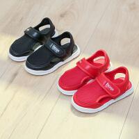 夏款童鞋男女童包头儿童运动凉鞋中小童网布透气凉板鞋潮