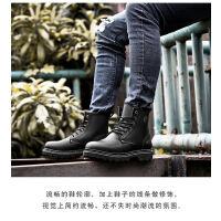 playьoy花花公子皮靴男韩版高帮靴男商务英伦鞋子潮