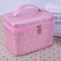 大号韩国大容量少女心旅行化妆箱便携化妆包简约收纳包收纳袋