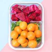 九阳玻璃饭盒上班族微波炉加热便当盒专用碗保鲜温餐盒带盖分隔型