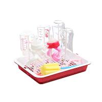 奶瓶放置架 婴儿奶瓶干燥架防尘沥水架晾干收纳支架宝宝水杯晾晒架放杯架托盘