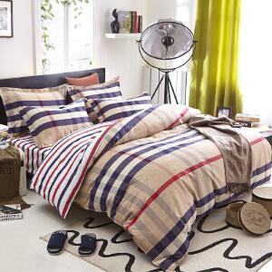 OLYI 纯棉床上用品四件套 全棉斜纹活性印花床单式家纺四件套 美丽印象床品四件套 床上四件套