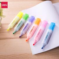 得力s625彩色荧光笔学生办公标记记号笔彩色笔批发办公划线笔单支