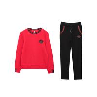 休闲套装女2018韩版秋季新款宽松圆领卫衣长裤两件套时尚学生跑步