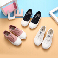 儿童布鞋春季男童布鞋春秋女童板鞋套脚学生单鞋