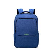 双肩包男女休闲旅行背包韩版电脑包时尚潮流高中大学生男女士书包 天蓝色基础版