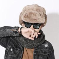 帽子男保暖加厚防风青年棉帽时尚韩版潮男士护耳雷锋帽