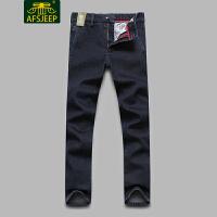 战地吉普(AFS JEEP)2017冬装新款男牛仔裤 加绒加厚保暖直筒宽松休闲男士牛仔长裤LZ658