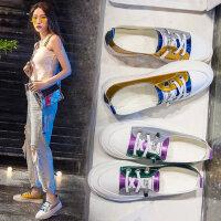 女士潮透气平底板鞋 韩版百搭系带女单鞋 学生鞋子女潮新款小白鞋