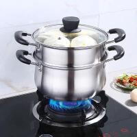 304加厚不�P����家用煮粥�煲���火�奶�蒸�燃�怆�磁�t�具