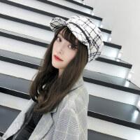 韩版百搭女士贝雷帽子 休闲英伦海军帽 时尚蓓蕾八角帽子 复古潮贝雷帽女