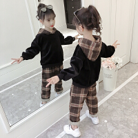 女童秋冬装套装加绒中大儿童装女孩洋气时髦两件套潮
